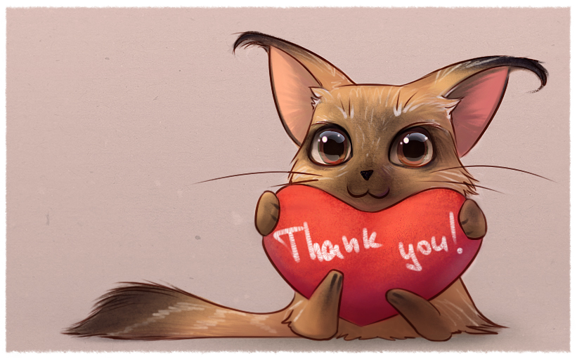 Thank you! by purrskill