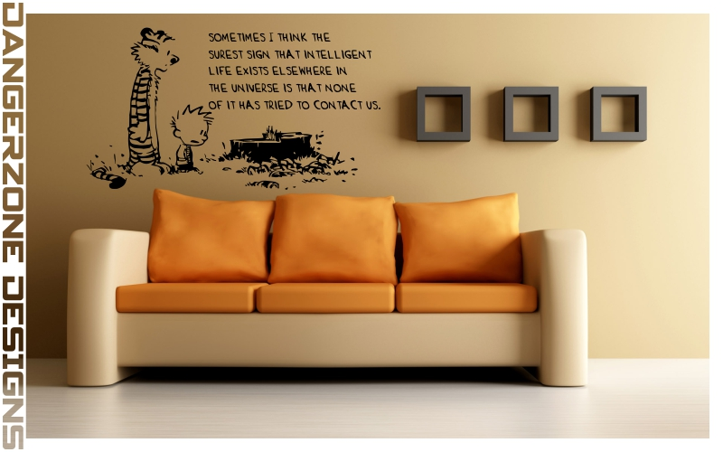 Calvin and hobbes wall art by dangerzonedesigns on for Calvin and hobbes nursery mural
