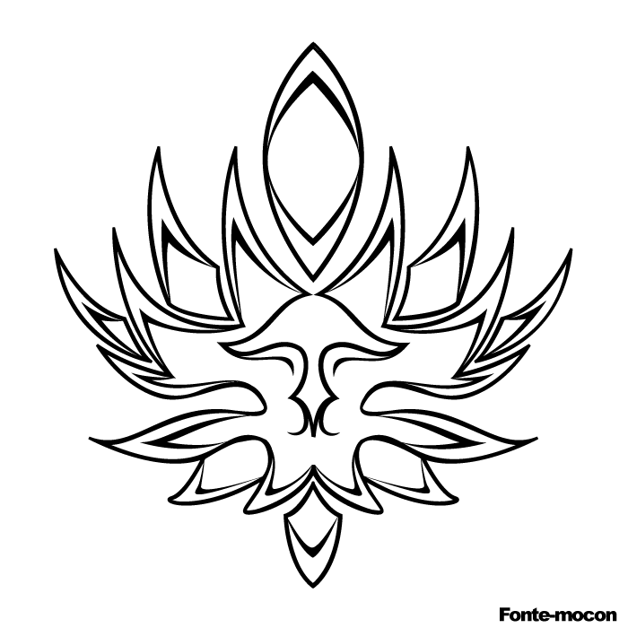 tribal flower - flower tattoo