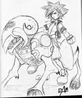 Kingdom Hearts-untitled sketch by dmario