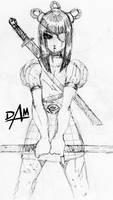 Child Slayer ink sketch by dmario