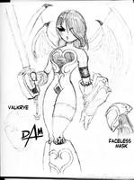 Valkrye inksketch WoH inspired by dmario