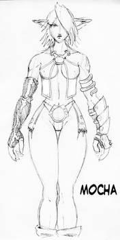 Mocha - character sheet sketch by dmario