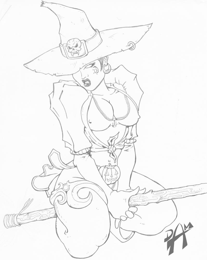 Deviantart coloring clubs - Deviantart Color Me I Need A Bad Witch Color Me By Dmario