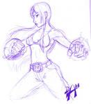 Lena scribble
