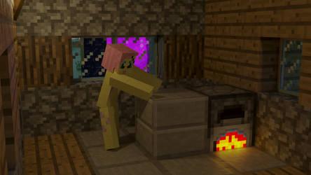 Fluttershy Minecraft2  4K by ponyguy456