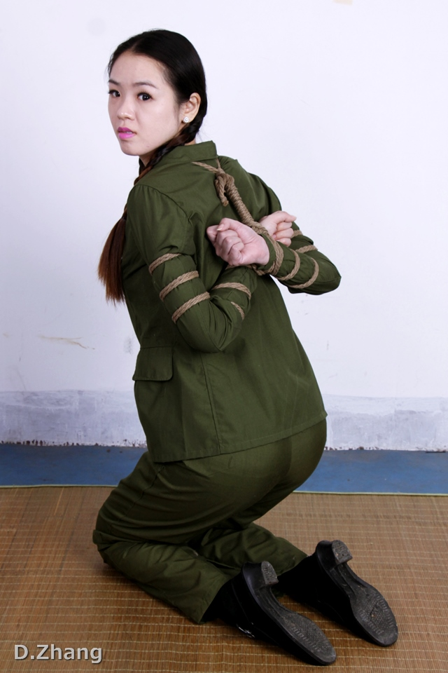 Chinese army girl tied to tree 2 7