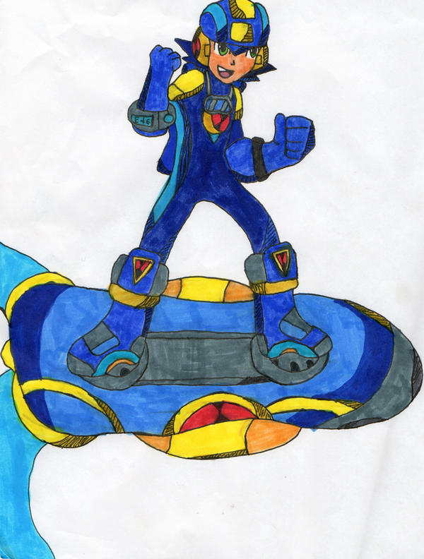 Sonic riders Megaman EXE by NIGHTSANDSONIC