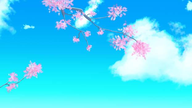 Cherry Blossom Tree Background