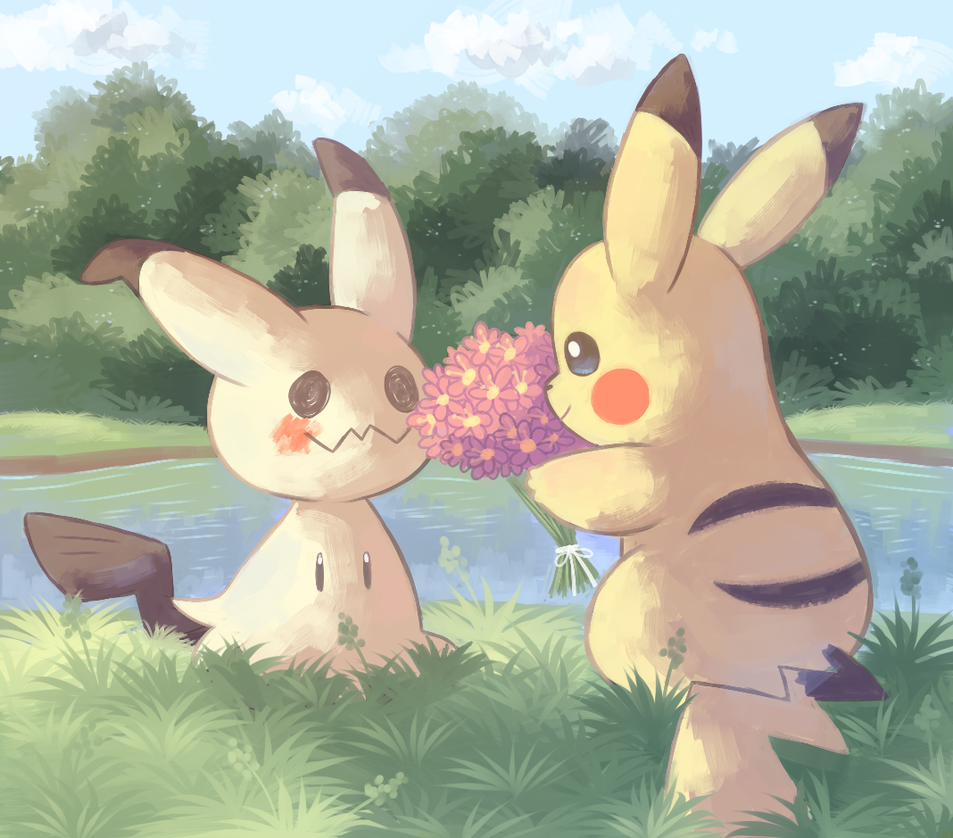a gift for mimikyu by Psiaus