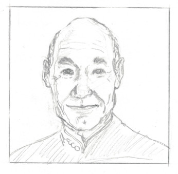 Captain Picard sketch 2 by kinow