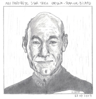 Captain Picard sketch final by kinow