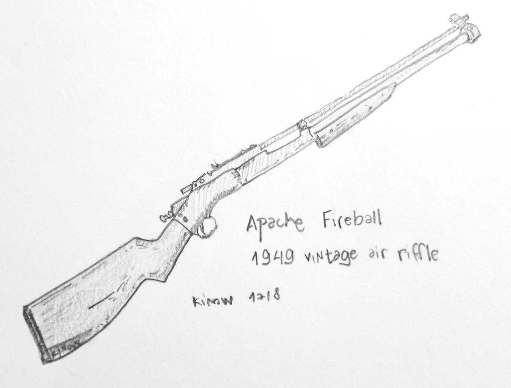 Apache Fireball 1949 Vintage Air Rifle by kinow