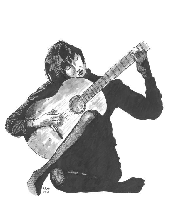 Moca tocando violao by kinow