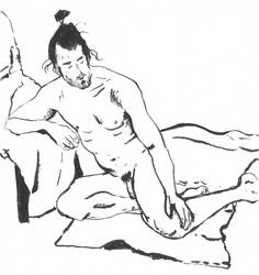 Man resting by kinow