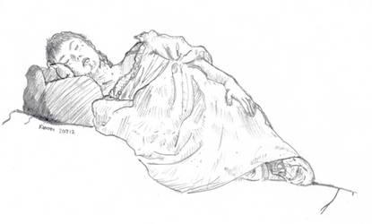 Menina deitada by kinow