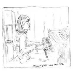 Pianist memorizing Bach