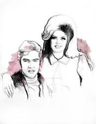 Elvis and Priscilla by inastanimirova