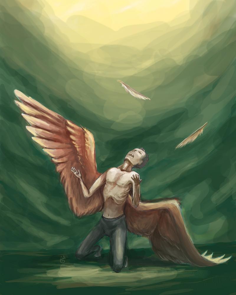 Fallen Angel Redo by AAOlsonDesign