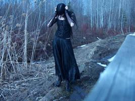 gothic forest girl stock 02 by Mariedark-stock