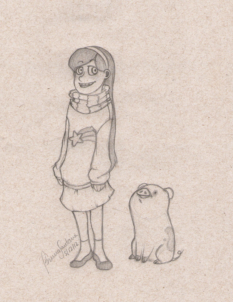 Mabel and Waddles by bruamapresunto