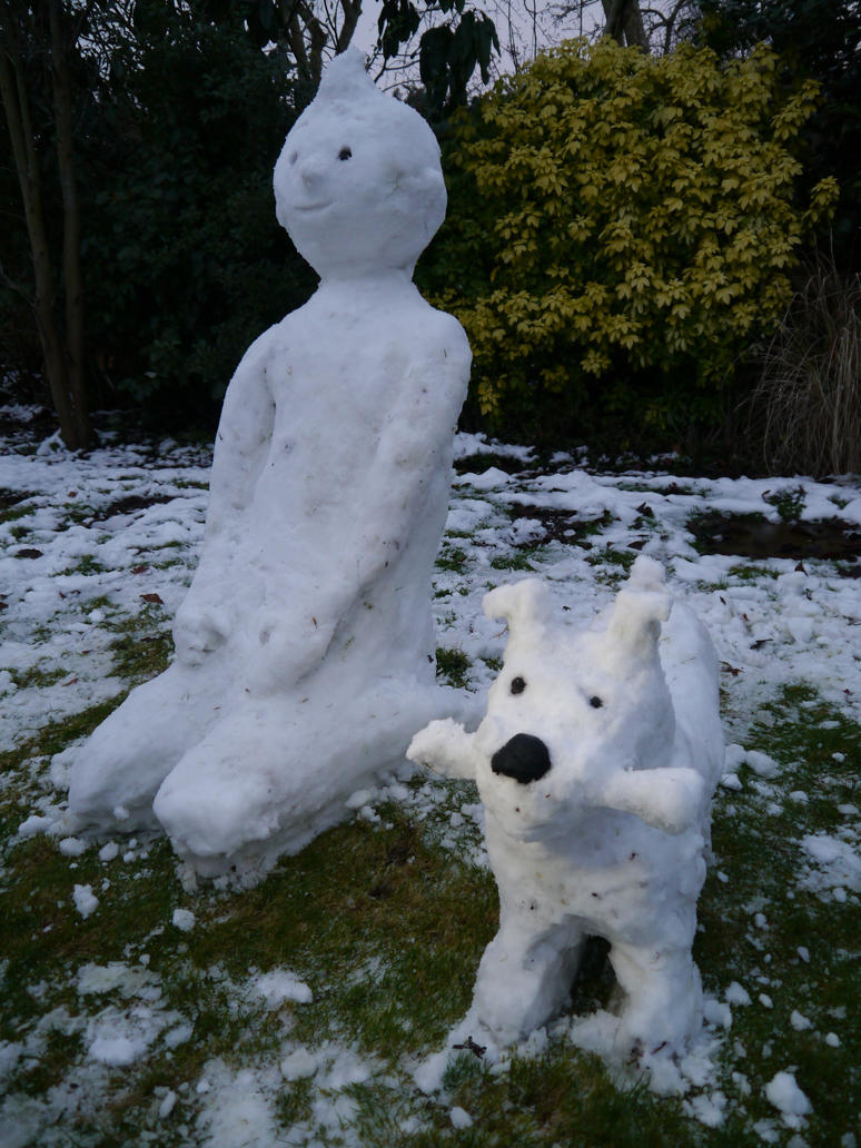 Snow Tintin and Snowy! by Igluos