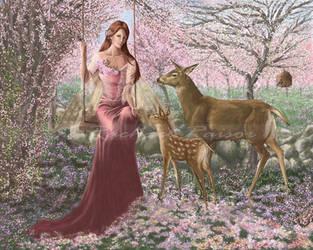 Seasons' Change Series #1: Spring Rebirth by starlightmagician