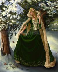Seasons' Change Series #4:  Winter Pines by starlightmagician