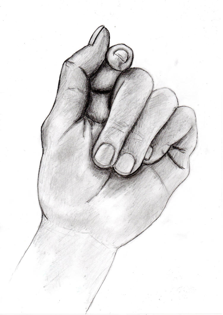 D Line Drawing Hand : Realistic hand by sky the guardian on deviantart