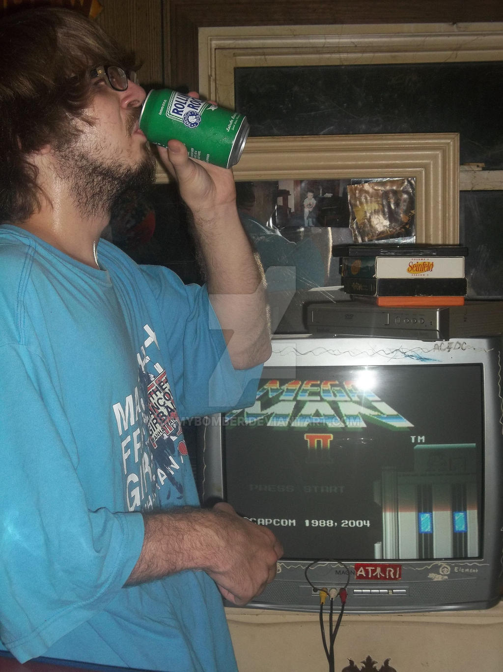 rolling rock to MegaMan 2