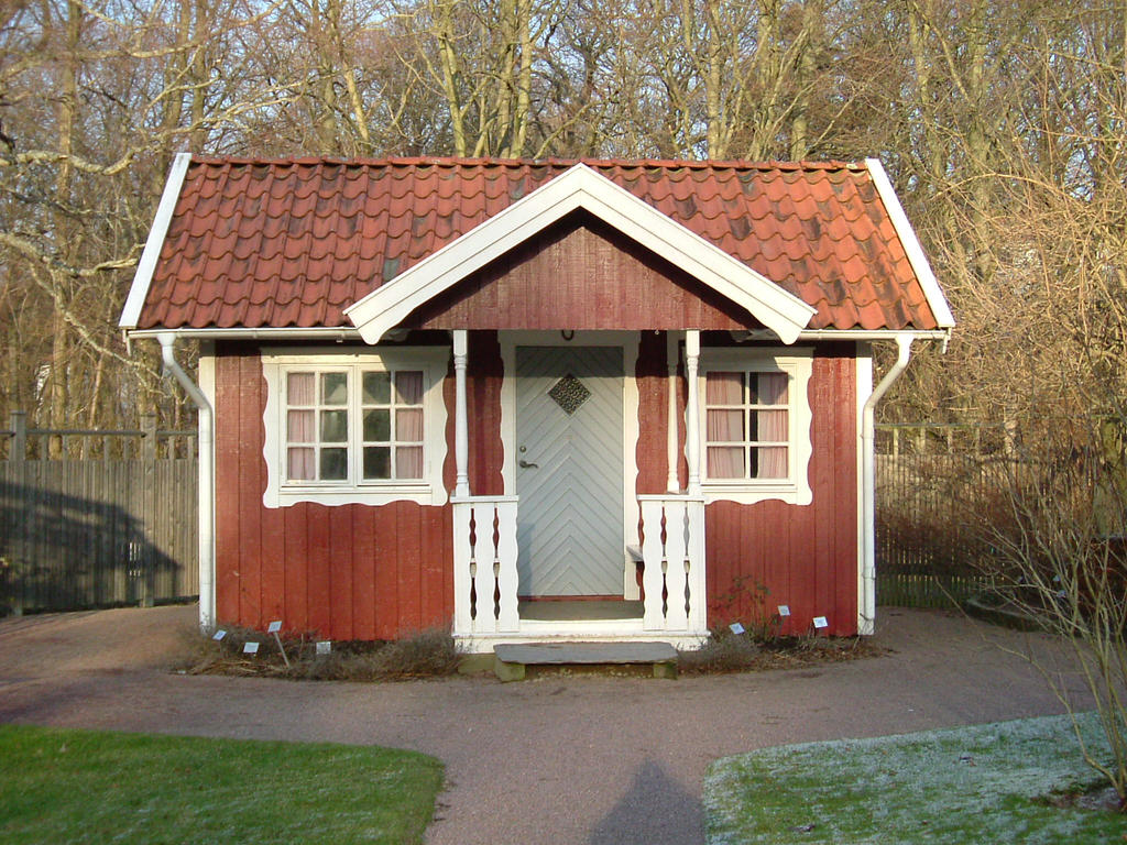 Swedish red cottage by thymestock on deviantart for Red cottage