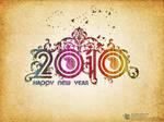 New year 2010 swirls style
