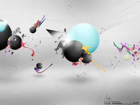 Abstract crystals digital