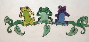 3 Wise Tree Frogs