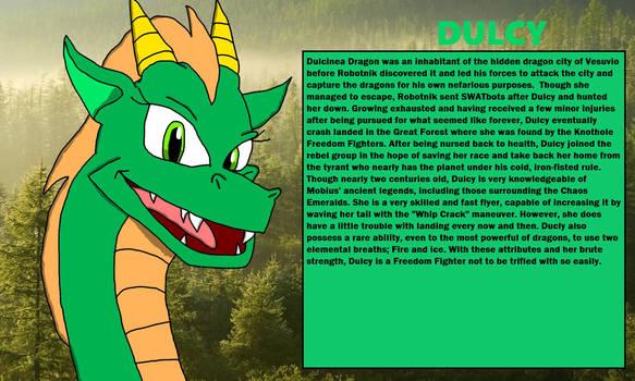 Chaos Emeralds Arc: Dulcy Dragon Bio Card