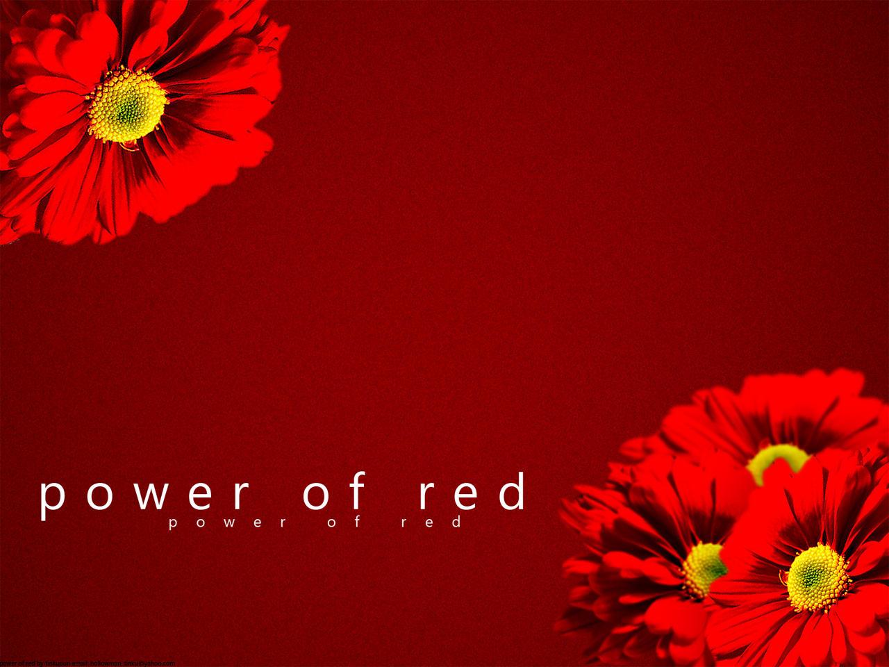 POWER OF RED by tinkupuri