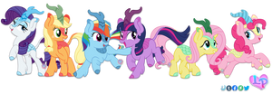 All Mane 6 Kirins