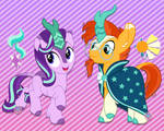 Starlight Glimmer and Sunburst Kirin
