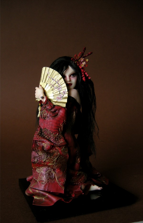 Red Dragon Geisha by wingdthing