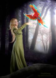 My winged Friend by LDKath