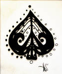 Spade Peace Sign Tattoo
