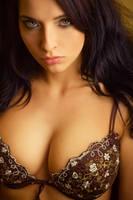 Attractive sexy girl in bra, big breasts by karimparba