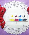 Primary Gouache Paint Dot Card Sample by Fiolettakk2