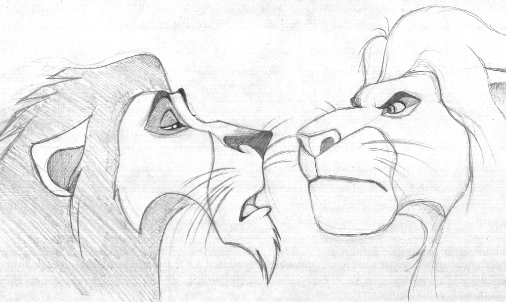 Lion King Scar and Mufasa Drawings - Bing images