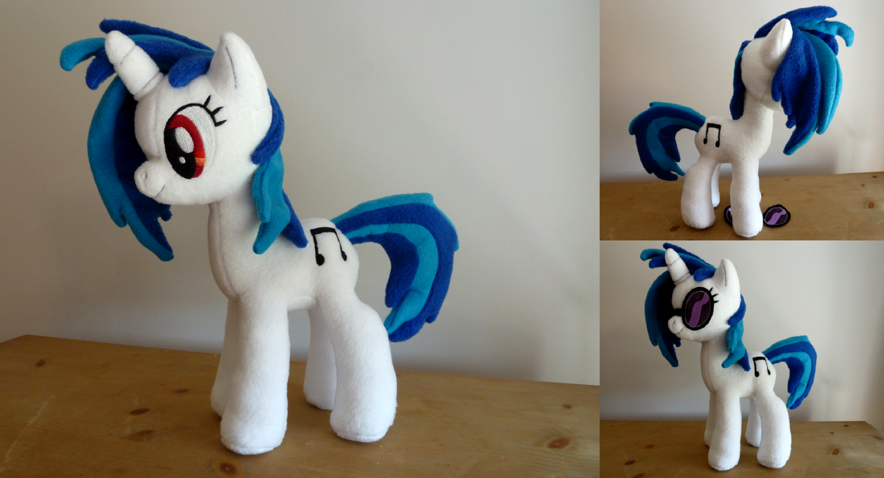 Vinyl Scratch / DJ Pon3 Plush by Wild-Hearts