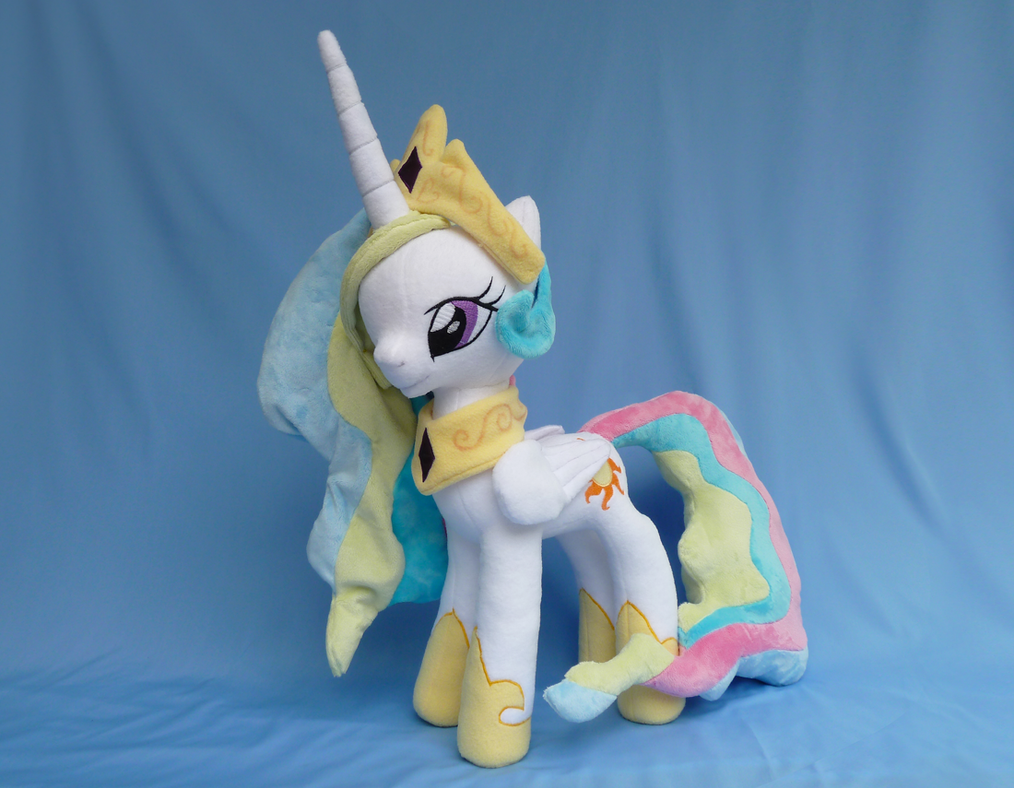 Princess Celestia Plush by Wild-Hearts