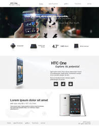 HTC One promo web