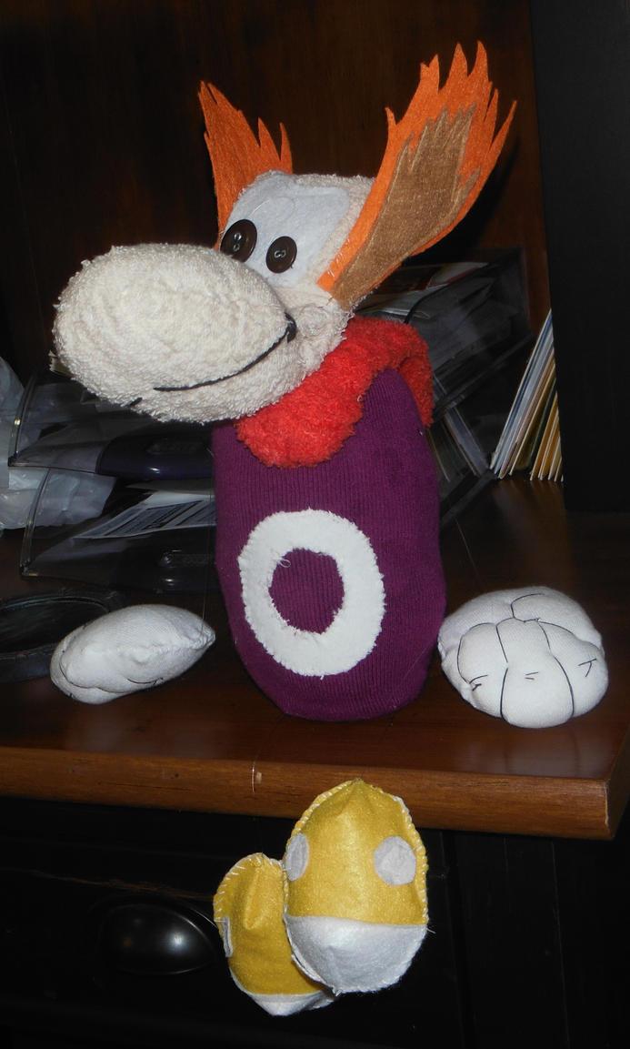 Rayman Plushie by hyperpsychomaniac