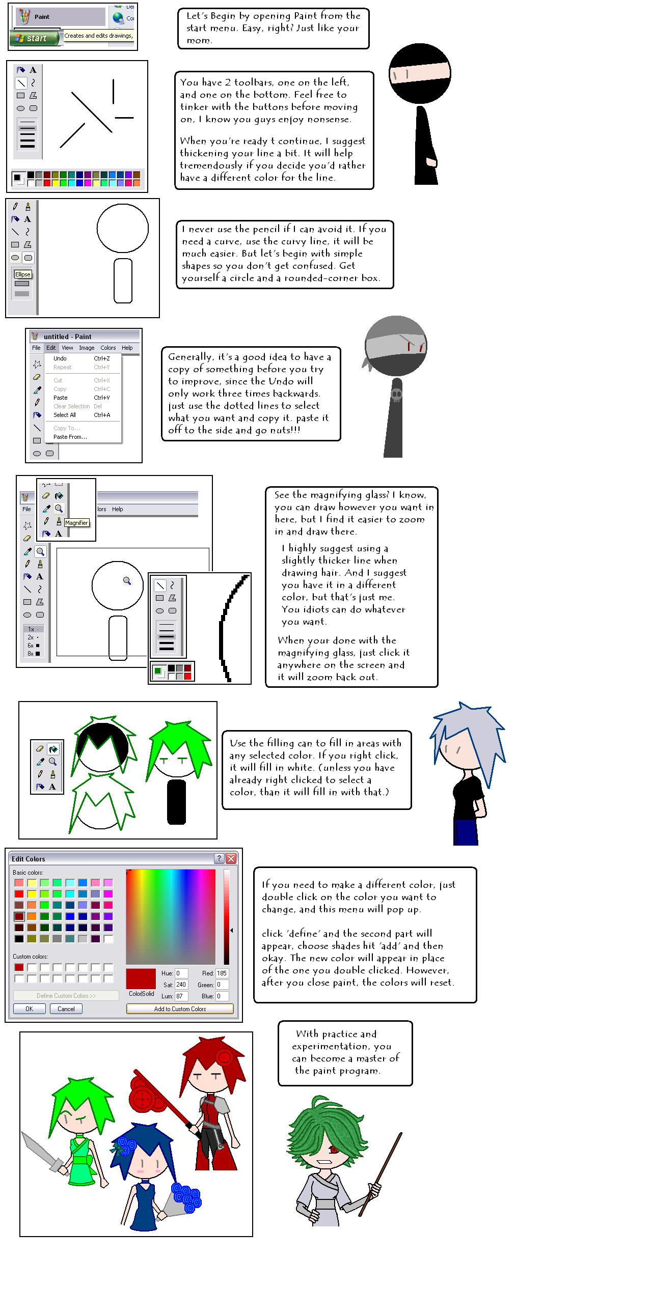 Windows Paint Tutorial by ShinjitsuShomei