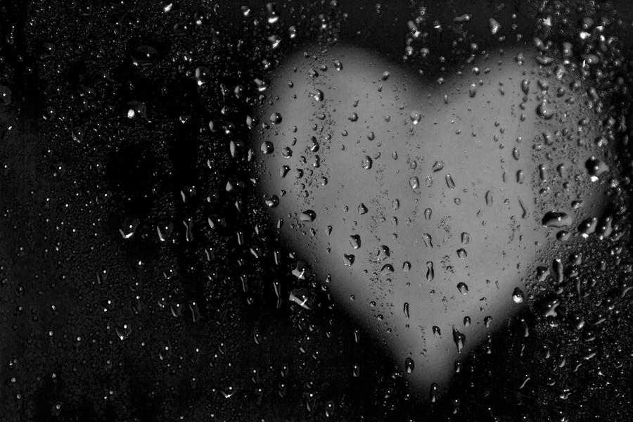 wallpaper rain blue hearts - photo #13